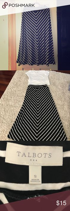 Talbots black and white maxi skirt size S Talbots black and white maxi skirt size S.  Excellent condition. Talbots Skirts Maxi