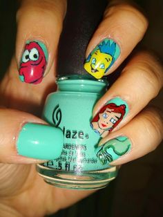 So cute!  Color is China Glaze Aquadelic.