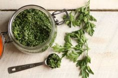 Homemade herb salt is the perfect way to preserve the flavor of your summer herbs all year long!