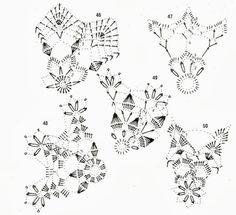 In oro e argento Crochet Motifs, Crochet Diagram, Crochet Doilies, Free Crochet, Crochet Ornaments, Crochet Snowflakes, Crochet Ball, Thread Crochet, New Years Decorations