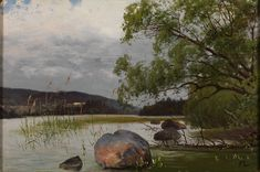 Fanny Churberg, Shore landscape (1879-80), oil on canvas, dimensions not known, Espoo Museum of Modern Art, Espoo, Finland. Wikimedia Commons.