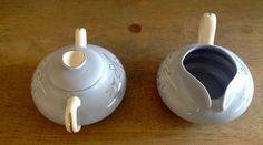 HTF Vintage Franciscan Gladding McBean BRENTWOOD Pattern Creamer Sugar Set USA  | eBay