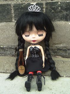 NOIR Black Beauty :: Black Gothic Blythe Doll