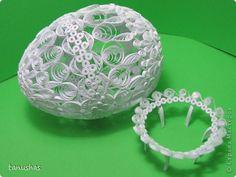 Поделка изделие Пасха Квиллинг Квиллинговое яйцо - проба Бумажные полосы фото 1