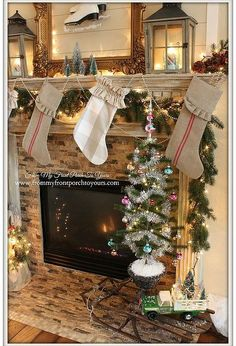 french farmhouse vintage christmas mantel, christmas decorations, crafts, fireplaces mantels, mason jars, repurposing upcycling, seasonal holiday decor