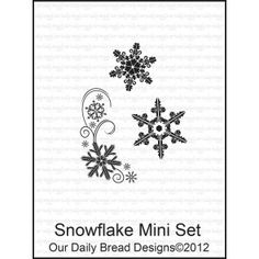 SNOWFLAKE MINI SET (CLEAR STAMPS)