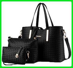 King Ma weave Handbag Purse Bags 3 Piece Set Tote Bag for Lady Women - Totes (*Amazon Partner-Link)