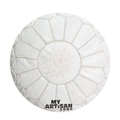The Moroccan Handmade Pouffe is a must to have an exotic touch in your home. It can be used as a low seat around a coffee table or in child room. Moroccan Pouffe, Leather Pouf Ottoman, Moroccan Theme, Kids Room, Child Room, Handmade, Vintage, Exotic, Bedrooms