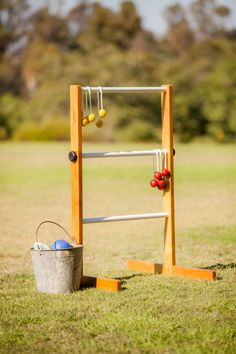 DIY Ladder golf!