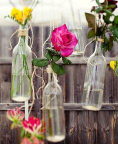 Wedding Flower Idea - Hanging Flower Arrangements By Wedding Ideas