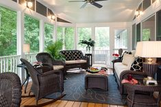 Screened in Porch decorating | Decorating Den Interiors/ Shelley Rodner C.I.D. - A fabulous ...
