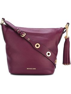 MICHAEL MICHAEL KORS eyelet detailing crossbody bag. #michaelmichaelkors #bags #shoulder bags #leather #crossbody #