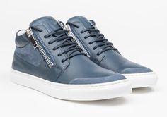 Antony Morato en zapatillas altas de piel napa con detalles de nobuk