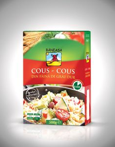 Cous Cous Packaging designed by Gilbert Vasile Product Packaging, Packaging Design, Couscous, Cereal, Breakfast, Box, Morning Coffee, Snare Drum, Package Design