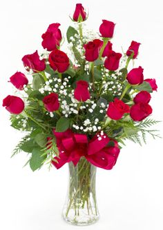 Valentine's Day - Valentine's Two Dozen Roses - Flowerama Columbus - Columbus Florist - Same Day Flower Delivery- like the shape of this Valentine's Day Flower Arrangements, Flower Vases, Flower Pots, Dozen Roses, Corporate Flowers, Valentines Gifts For Boyfriend, Valentines Flowers, Same Day Flower Delivery, Flowers Delivered