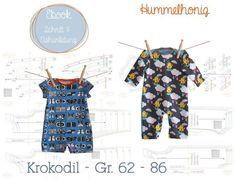 Nähanleitungen Kind - Schnittmuster (Ebook) *Baby Anzug - Spieler* - ein Designerstück von artixign-Elke bei DaWanda
