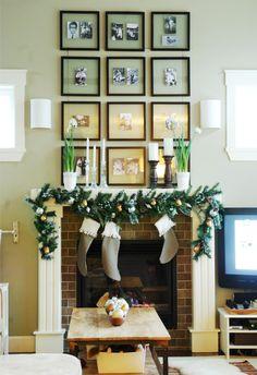Gallery wall above mantel: Mini Manor Blog