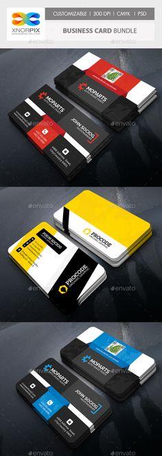 #Business #Card Bundle - Corporate Business Cards Download here: https://graphicriver.net/item/business-card-bundle/19734076?ref=alena994