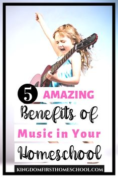 We know music is an amazing way to relax and rejuvenate. Are you aware of the many other benefits of music in your homeschool? For one... #musiclessons #homeschoolmusic