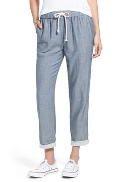 Stem Chambray Lounge Pants available at Preppy Style, Style Me, Beach Pants, Loose Pants, Chino Shorts, Chambray, Casual Chic, Pajama Pants, Women's Pants