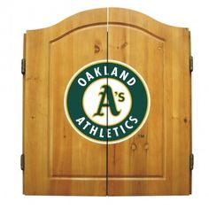 The Oakland Athletics Dart Board Cabinet by Imperial USA
