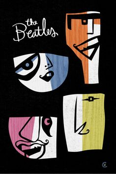 Beatles (caricature) by David Cowles http://dunway.com