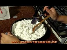 ▶ Como Hacer Porcelana Fria (1de2) - How to make cold porcelain - YouTube