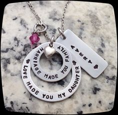 Adoption Gift, Blended Family Gift, Mommy Necklace, Adoption Jewelry, Step Daughter Gift, Adoptive Foster Parent Gift