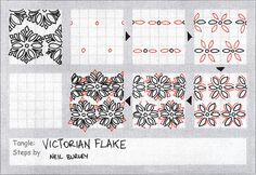 Victorian Flake - tangle pattern by perfectly4med, via Flickr