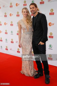 News Photo : Larissa Marolt and David Garrett attend the ECHO...