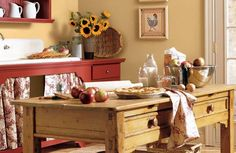 Which Is Perfect For Your Home? 11 Creative Kitchen Island Ideas: Country Style Kitchen Island Idea