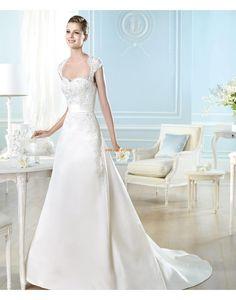 Délka dvorní Srdíčko Zip Designer Svatební šaty