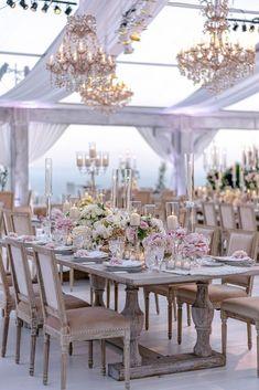 36 Amazing Wedding Centerpieces With Flowers ❤ wedding centerpieces tent reception brush roses and candles amyandstuart #weddingforward #wedding #bride #weddingcenterpieces #weddingdecor