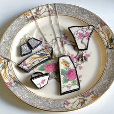 broken plate jewelry