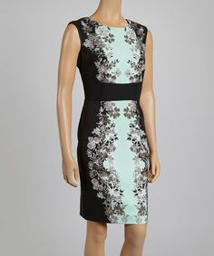 This Black Floral Sheath Dress by London Times is perfect! #zulilyfinds #springworkattire