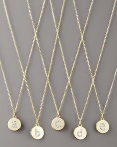 Diamond-Initial+Gold+Necklaces+by+KC+Designs+at+Neiman+Marcus.