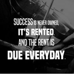Reposting Work hard for your success. It doesn't come easy, but sure it worth it. Hustle Quotes, Motivational Quotes, Inspiring Quotes, Inspirational, Work Success Quotes, Monday Motivation, Fitness Motivation, Spartan Life, Being Good