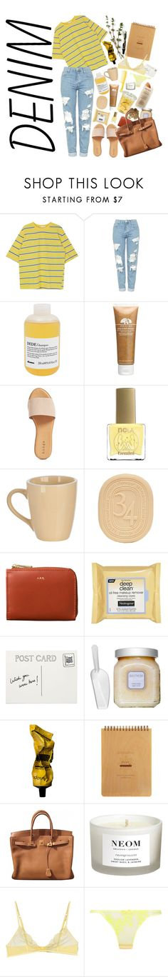 """LILY"" by yam0 ❤ liked on Polyvore featuring Topshop, Davines, Origins, Hinge, ncLA, Diptyque, Neutrogena, Club Monaco, Martha Stewart and Laura Mercier"
