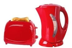 Essential 1.7 Litre Kettle in Red and 2 SLICE TOASTER: Amazon.co.uk: Kitchen & Home