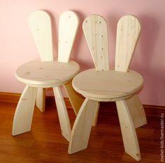 Купить Стульчик Зая - бежевый, стульчик, детская комната, мебель на заказ, фанера берёзовая