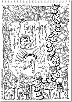 world thinking day colouring page | international / thinking day ... - Girl Scout Camping Coloring Pages