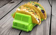 Un camión porta tacos. | 24 increíblemente ingeniosos productos que hacen la comida más entretenida