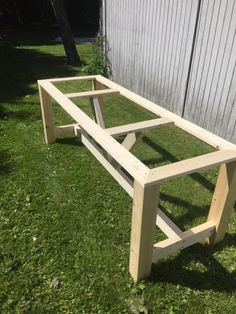 Garden Table, Patio Table, Picnic Table, Wood Table, Dining Table, Diy Outdoor Table, Outdoor Decor, Tall Kitchen Cabinets, Long Desk