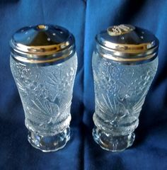Tiara Pondorsa Pine Salt Pepper Shakers 4 75 High Set of 2 40 | eBay