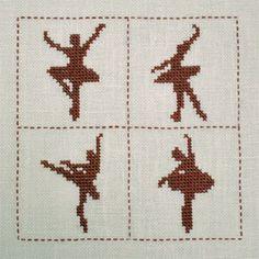 Cross Stitch 4 x balet dancer