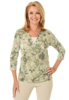 Erika Floral Kimberlee Burnout Top 60414183 Front Irish Bells
