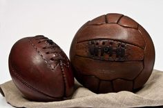 Rugby balloon 1940 & Football ballon 1950 © John Woodbrigde Makers