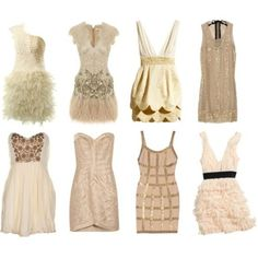 Love the Herve Leger Row, from the left and LOVE LOVE the Matthew Williamson row, from the left Matthew Williamson, Champagne Cocktail Dress, Cocktail Dresses, Champagne Colour, Champagne Party, Cute Dresses, Cute Outfits, Party Dresses, Banquet Dresses