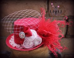 Valentine's Day mini top hat  mini top hat by fancygirlbowtique, $22.00