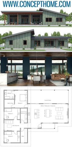 House Designs, Home Plans, House PlansYou can find Floor plans and more on our website.House Designs, Home Plans, House Plans Design Home Plans, Rustic Home Design, Modern House Design, Midcentury Modern House Plans, Modern Floor Plans, Contemporary House Plans, Small House Plans, House Floor Plans, Lake House Plans